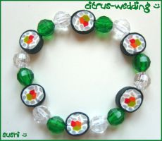 sushi bracelet by citruscouture