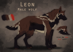 Leon Reference 2013 [wolf form] by HeliacWolf