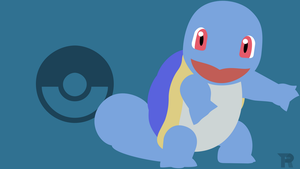 Squirtle Minimalist Blue by turpinator77