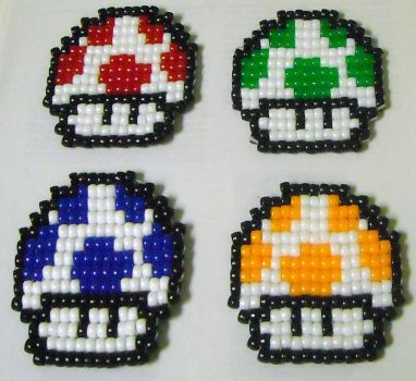 Coaster Set partial by geekbeads