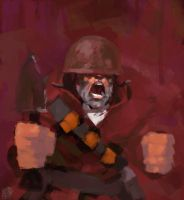 tf2: soldier by Vamp1r0