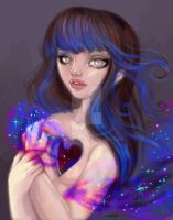 Universe In Her Heart by Natasha Wescoat by wescoatart