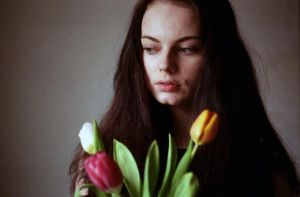 K. and the tulips. by BlackDennie