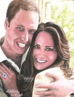 Prince William and Kate by iggytheillustrator