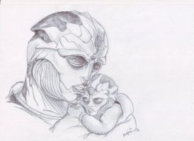 Thane and Child by Angua33