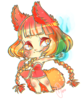 Fox Girl Chibi by kowai-kaiju