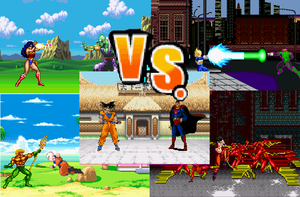 Justice League vs Z Fighters (vote) by 8-BitBlanka