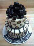 Animal Print Cake by Heidilu22