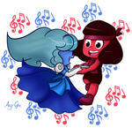 Sapphire and Ruby by AngGrc