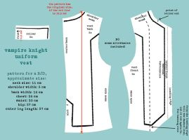 Vampire Knight Uniform Pattern Vest by DemonViridian