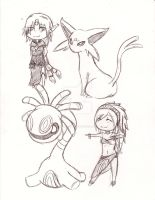 Gijinka and Pokemon 6 by Pencil-Only