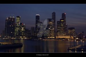 Singapore Skyline by W0LLE