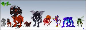 Wildzard's villains by Animewave-Neo