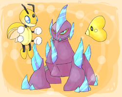 Shiny Trio :: Pokemon X by PikaIsCool