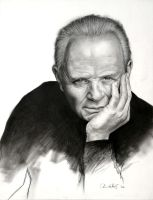 Anthony Hopkins by ChrisWhitePortraits