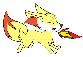 Pokemon Fennekin by ItsLonely