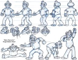 The Couch Potato Model Sheet by Animator-who-Draws