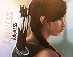 Katniss by PoulineStark