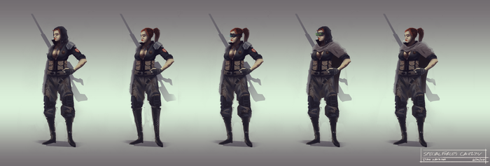 Special Forces Caitlyn Concepts by littlewati