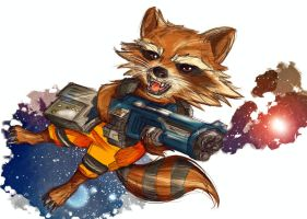 Guardians of the Galaxy | Rocket by OroNoDa