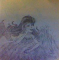 Mermaid on a rocky by TMB by TheMangaBoy
