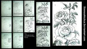 Step by step  Roses 1 by Rinmeothichca