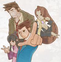Phoenix Wright and Team Justiz by Crocodile-Chocolate