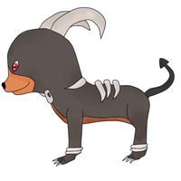 Houndoom Chibi by TempestWaterdragon
