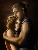 Suki and Sokka (Avatar: The Last Airbender) by lerielos