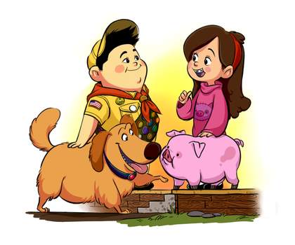Russell meets Mabel by bamsky
