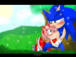 SonAmy Screenshot Attempt by LolipopWerehog
