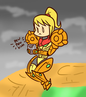 Samus Playing Metroid 2 by Anaugi