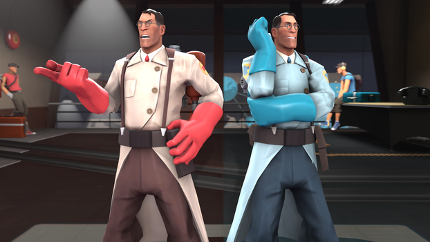 Red and blu. [Tf2 -25] by yuib