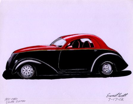 1937 Ford Coupe Custom by ImfamousE