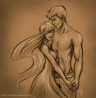 The Hunger Games: Annie and Finnick by mseregon