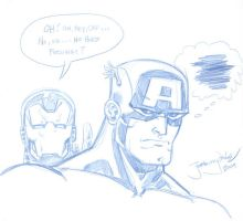 Captain America marchsketchdum by thejeremydale