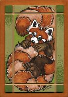 Red Panda's Very Big Tail by XianJaguar