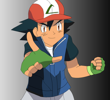 Ash Ketchum 6th Generation (Nate Style 2) by FinnAkira