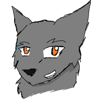 Random Wolf Headshot by SkyWolfHeart