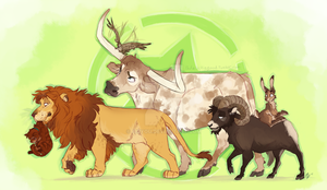 Actual Animal Ah Crew by Aibyou