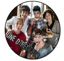 boton png One Direction by LovebySelena