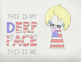 Derp Face: American Style by deidara743