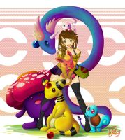 Me and my Pokemon Party by Tsukino-Black
