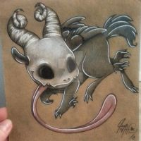 Quib, the Cute Skull Critter by Jennaveve12
