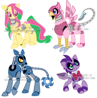 Animatronic pony adoptables1 by Sakuyamon
