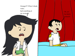 Brian at Beth Tezuka's stomach by MarcosLucky96