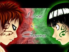 Lee vs Gaara by NinjaLeeXGaara