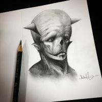 Graphite drawing.  by anythingbuthumans