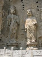 Buddhist Sages, Longmen Grotto by dorianclock