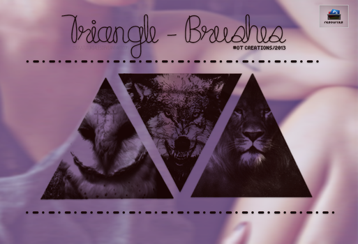 Triangle - Brushes. by osukatutoriales